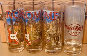 "Hard Rock Cafe ROME ITALY 2016 4"" SHOT GLASS V16 City T-Shirt GLASSWARE CORDIAL"