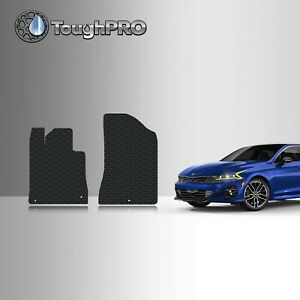 ToughPRO Front Mats Black For KIA K5 All Weather Custom Fit 2021