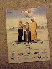 New listing 2005 Dubai Desert Classic Programme: Golf: European Tour
