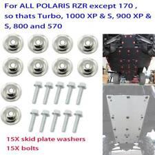 15 Skid Plate Washer + 15 Bolt Kit For Polaris UTV Ranger RZR 570 1000 7556065 A