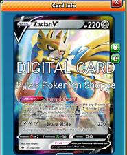 Zacian V SWSH Pokemon TCG Online PTCGO 138/202 DIGITAL CARD FAST