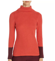 Nic+Zoe Women's Red Colorblock Turtleneck Sweater 2XL NWT