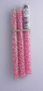 1 TUBE TOHO ROUND SEED BEAD SILVER LINED PINK   SIZE 8/0 *