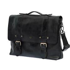 Old Look Genuine Leather Large Messenger Bag Shoulder Style Briefcase Satchel