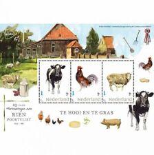 Nederland 2020  Rien Poortvliet boerderijdieren koe schaap kip blok postfris/mnh