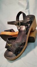 "Vintage Connie Shoes Women's Blue Leather Buckle - US 8m ""CUTE"""
