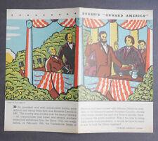 1940's Dugan's Bakery Co. Advertising Flyer Abraham Lincoln