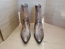IXOS Womens Brown Lether Ankle Boots Size 38/7.5 M