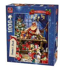 1000 Piezas de Rompecabezas de Navidad-Santa 's Escritorio haciendo juguetes presenta 05360