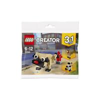 LEGO CREATOR 30542 3 IN 1 CUTE PUG POLYBAG IN STOCK NOW