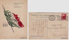 # UNIONE NAZ. REDUCI - PARTITO DEL REDUCE ITALIANO  1946