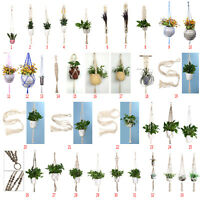 Modern Pot Garden Holder Plant Hanger Flower Legs Hanging Macrame Rope Basket AU