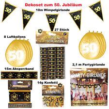 Großes Deko Set 50. Geburtstag / Goldene Hochzeit 50 Jahre Dekoration Jubiläum