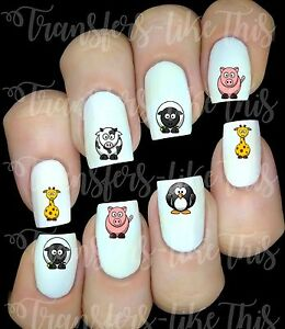 Autocollant Stickers ongles Cute Animals nail art manucure déco water decal