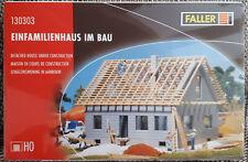 Faller 130303,130307 Bausaetze Einfamilienhaus im Bau,Haus im Bau neu