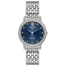 Citizen Eco-Drive Silhouette Crystal Ladies Stainless Steel Watch - EX1480-58L
