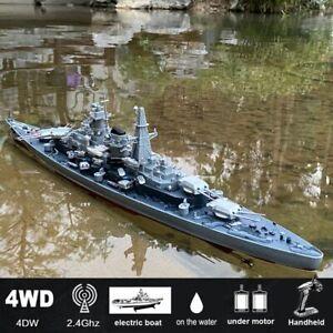 "1:360 Scale 28"" Remote Controlled Warship Battleship RC Ship 20-25km/h On Lake"
