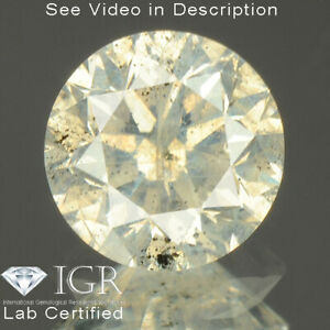 0.70 cts. CERTIFIED Round Brilliant Off White Color Loose Natural Diamond 24049