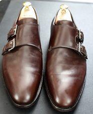 Mens Handsome John Lobb Double Monk -Brown -Kiton