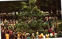 Vintage Postcard - Saratoga Race Track People Gathering NEW YORK NY #3860
