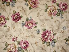 Mill Creek Floral ANTIQUE Cotton Home Decor Drapery Jacquard Sewing Fabric BTY