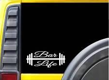 Bar Life K792 8 inch Sticker lifting gym decal