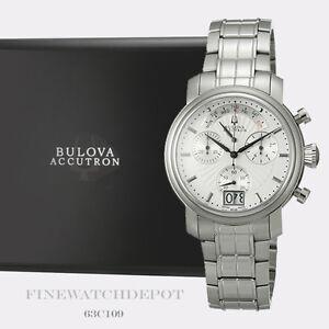 Authentic Bulova Men's Stainless Steel Accutron Amerigo Watch 63C109