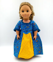Fit For 18'' American Girl Felicity's BeForever Meet Dress Doll Clothes Outfit