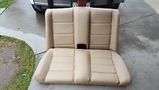 BMW E30 325i 318i 325is REAR SEATS CONVERTIBLE NATURAL REUPHOLSTERED BEAUTIFUL