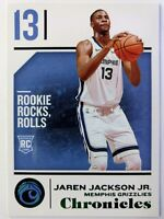 2018 Panini Chronicles Green Jaren Jackson Jr Rookie RC #42, Memphis Grizzlies