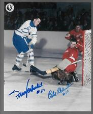 Frank Mahovlich on Roger Crozier & Alex Delvecchio Dual Signed Hockey Photo!