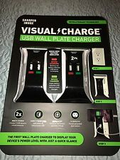 Sharper Image Visual Charge USB Wall Plate Charger 2 Pack. Surge Protector