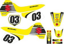 Fits Suzuki DR 350. Year 2004. FREE Name & No. Custom Decal Graphics Sticker Kit