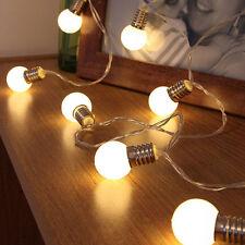10 LED Retro Bulb Balls String Lights Wedding Party Home Decor Fairy Light Lamp