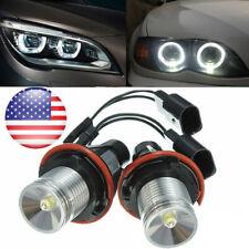 For BMW Angel Eyes Halo White LED Ring Marker Light Bulbs X5 E39 E60 E63 New US