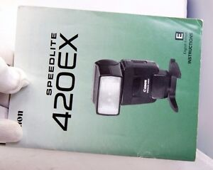 Canon Speedlight Flash 420 EX Manual Guide Instruction EN English