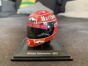 Casco Michael Schumacher Ferrari F1 2002 Marlboro Sponsor Decals 1:5 Spark