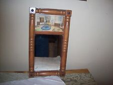 Antique Collectible Wall Mirror Solid Wood Frame  Great Picture