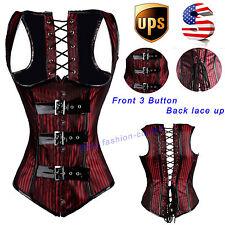 Steampunk Gothic Shaper Underbust Corset Bustier top Burlesque Women Size S-2XL