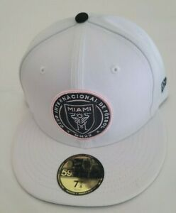 Inter Miami CF New Era MLS Team Logo 59Fifty White/Pink 7-1/4 Fitted Hat