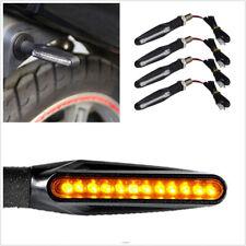 4x Universal Motorcycle Bike LED Amber Turn Signal Blinker Light Indicators US