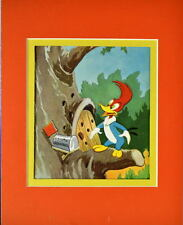 WOODY WOODPECKER Visits Sammy Squirrel Print Professionally Matted
