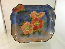 "WILD ROSE TRAY DISH 9"" x 8"" BY ROYAL DOULTON D6227  1948"
