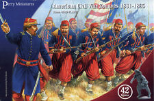 Toy Soldiers Perry Miniatures 28mm Civil War Zouaves 42 Figures Battle Flags 103