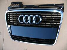 Audi A4 B7 original front grille + license plate holder - black - brand new
