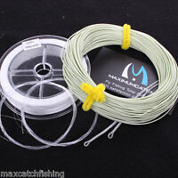 Fly fishing line kits WF7F +30lb backing + 9ft tapered leaders + loop connectors