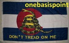3'x5' Colorado State Gadsden Flag Don't Tread On Me Tea Party Protest US USA 3x5