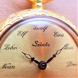 "Cute Ladies Pocket Watch, "" Selecta "", "" Schriftzahlen, Good Funktion-ca1975"