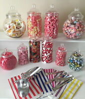 Plastic Victorian Style Sweet Jars DIY Candy Buffet/Sweet Table for Wedding