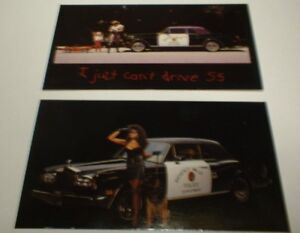 ★★2-1989 ROLLS ROYCE CORNICHE PHOTO MAGNETS-TOOLBOX,FRIDGE MAGNET-89 POLICE CAR★